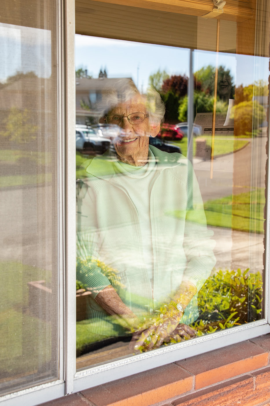 Editorial portrait in Portland Oregon of elderly woman