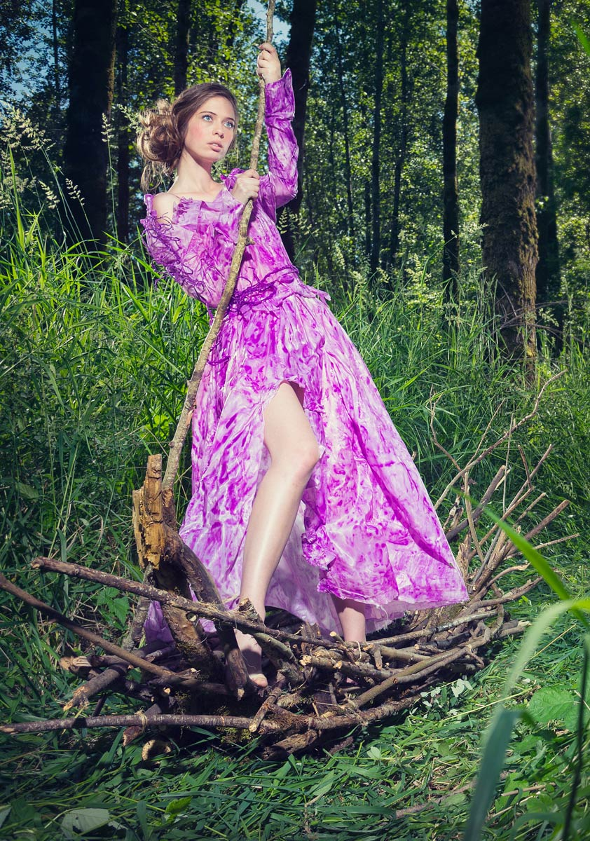 Fashion photograph of handmade dress